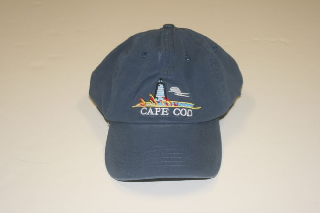Cape Cod Lighthouse Blue Hat