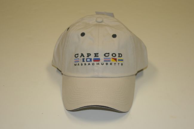 Cape Cod Nautical Flags Khaki Hat