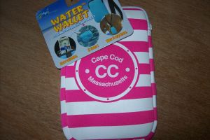 Pink Striped Cape Cod Water Wallet