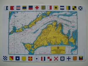 Martha's Vineyard Chart Place Mat