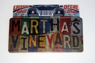 License plate decal for Martha's Vineyard